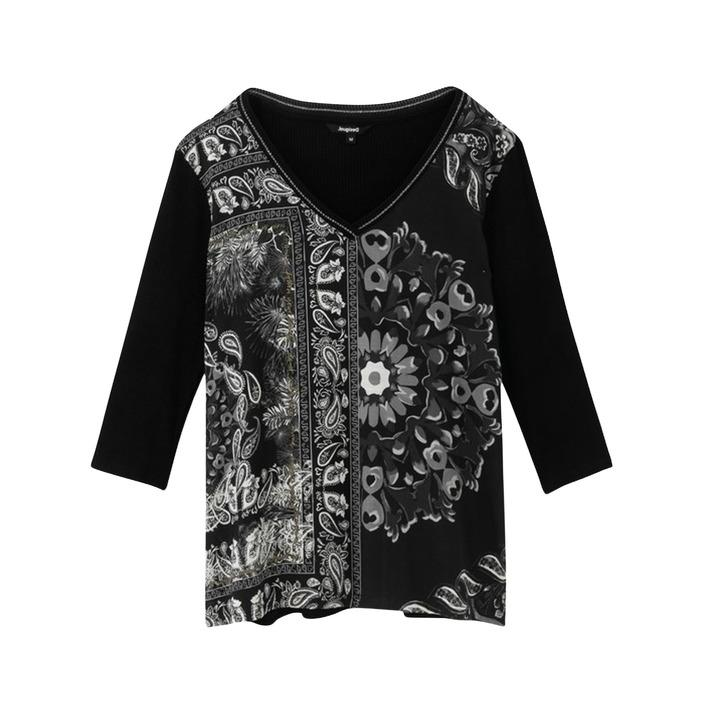 Desigual Women's T-Shirt Black 188328 - black XS