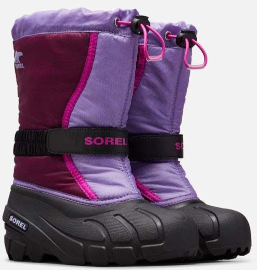 Sorel Youth Flurry Vintersko, Purple Dahlia/Paisley Purple, 32