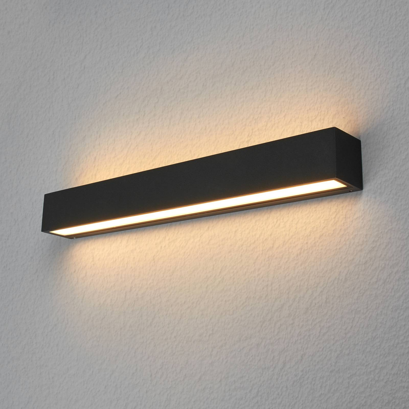 Lucande Lengo-LED-seinävalo 50cm grafiitti 2 lamp.