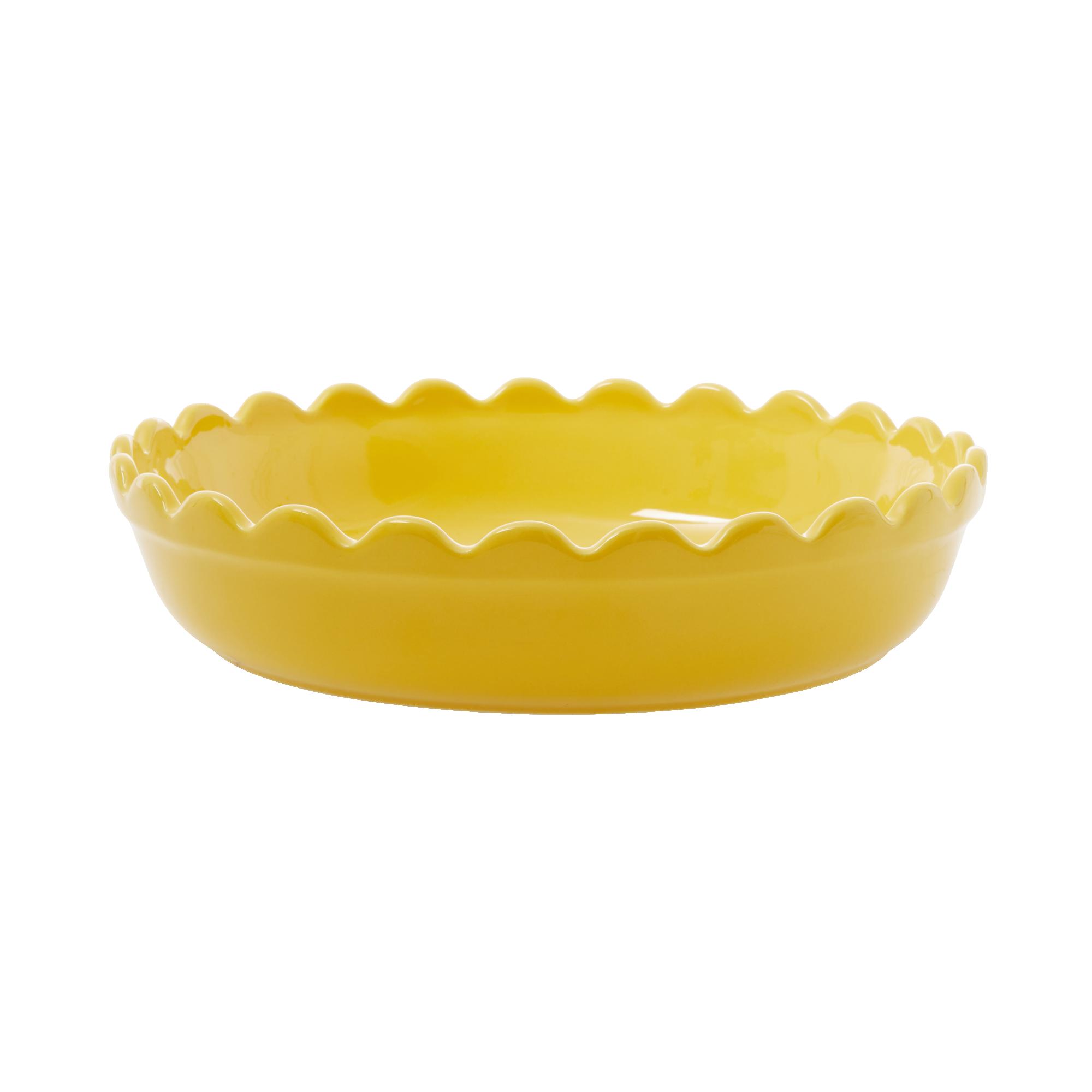 Rice - Stoneware Pie Dish - Yellow S