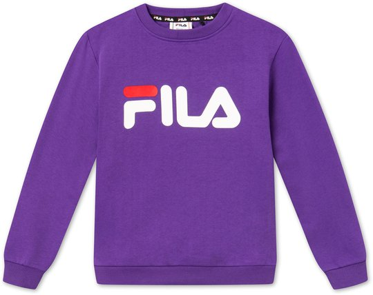 FILA Kids Classic Logo Crew Genser, Purple 86/92