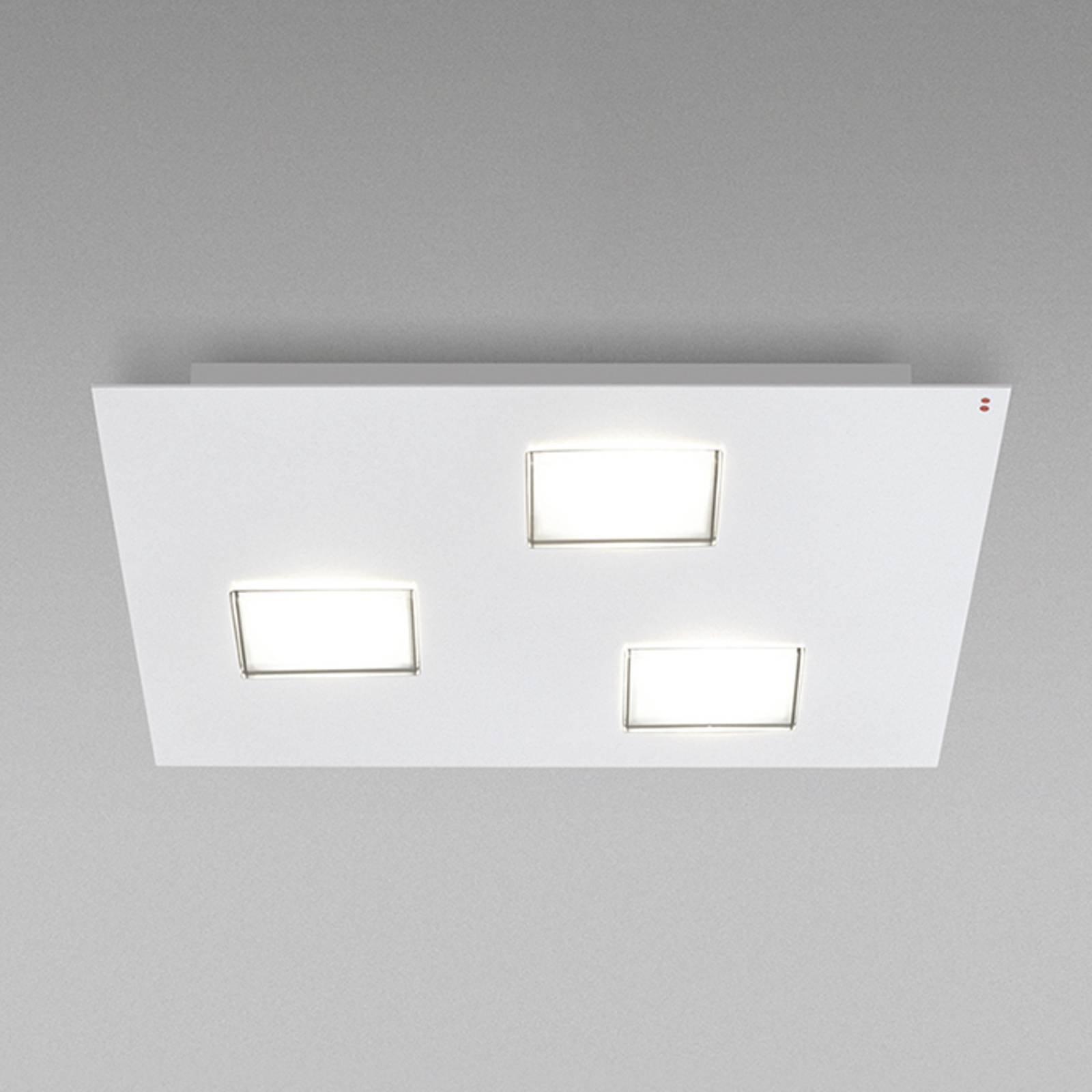 Fabbian Quarter - LED-taklampe 3 lyskilder, hvit