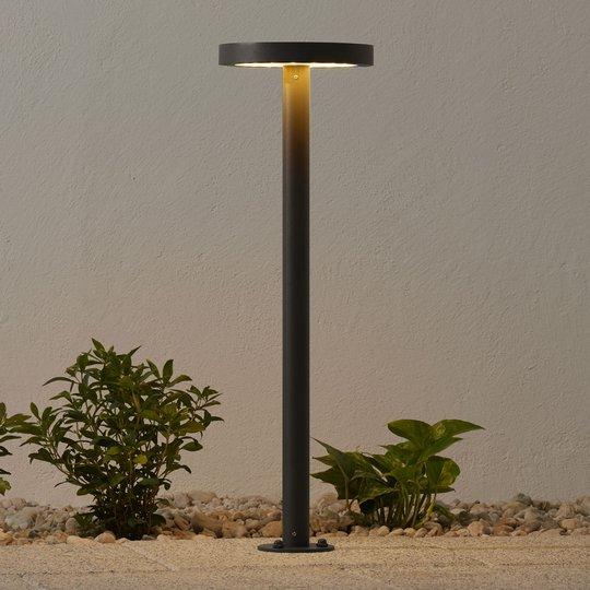 Aurinkokäyt. LED-pylväsvalo Linja pyöreä t.harmaa