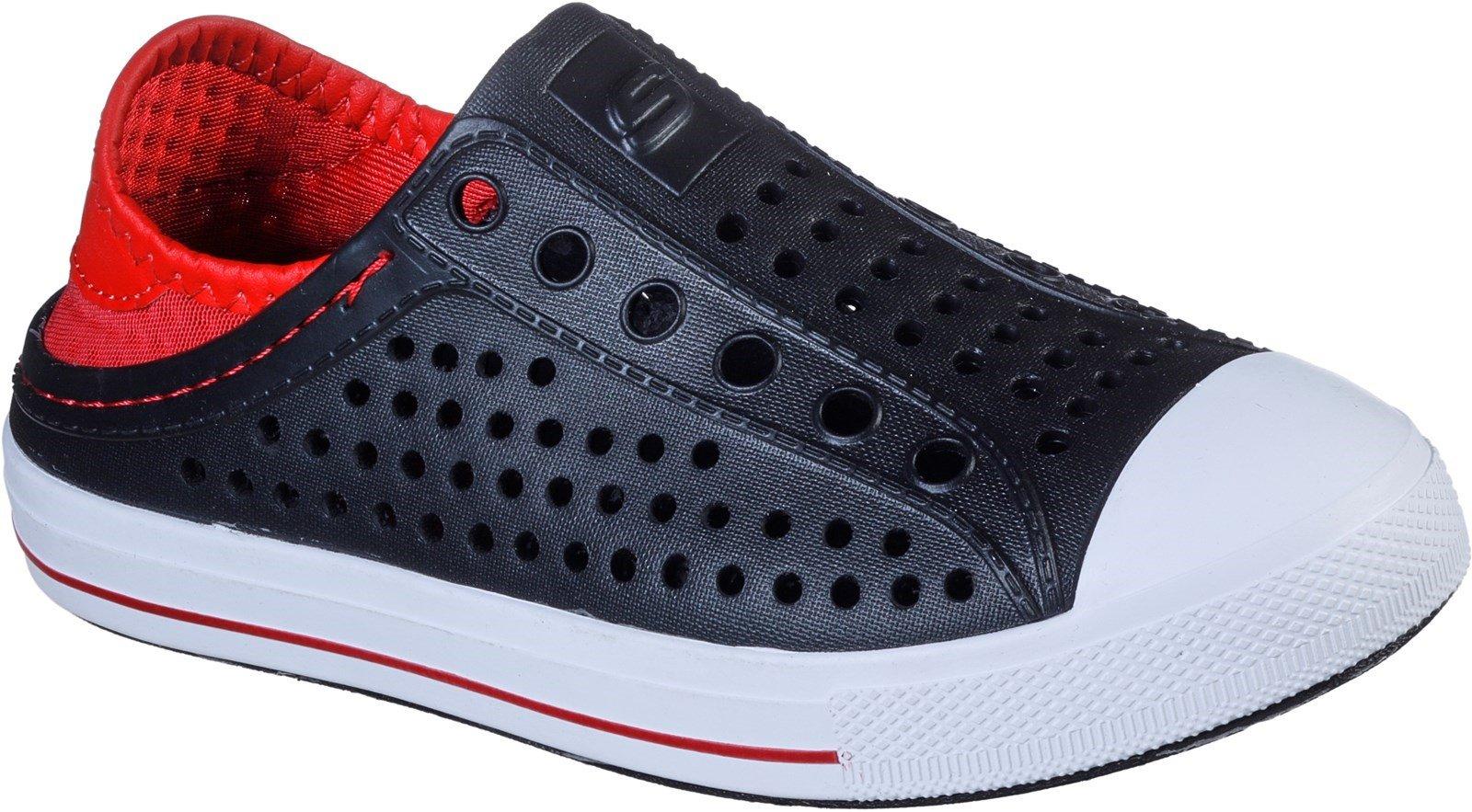 Skechers Unisex Guzman Steps Aqua Surge Slip On Sandal Multicolor 30778 - Black/Red 9.5