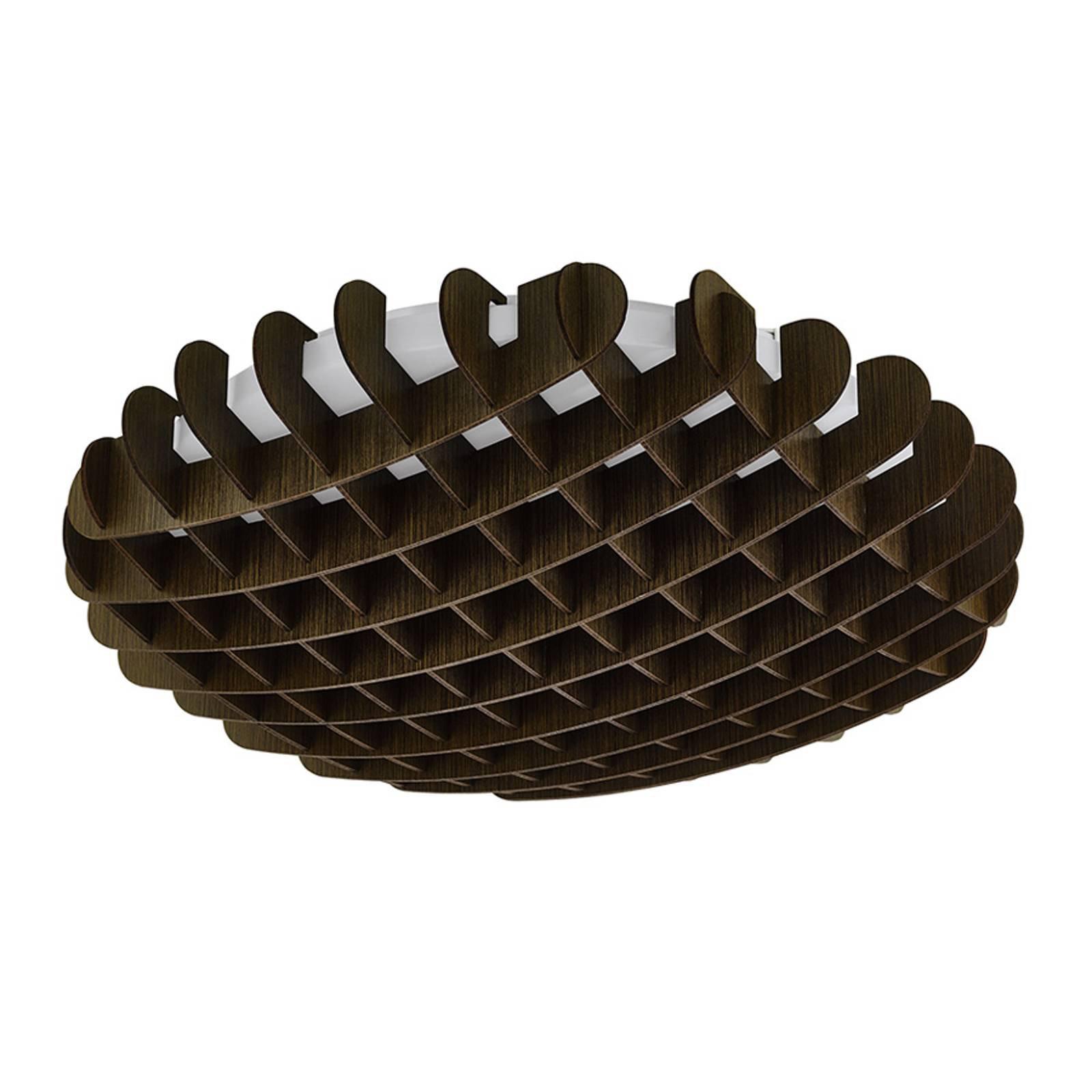 LED-taklampe Valdecabras, brun