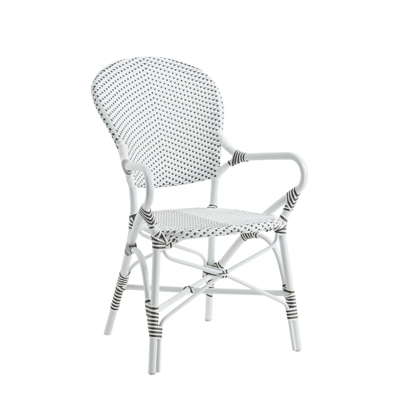 Isabell Alu arm stol vit, Sika Design