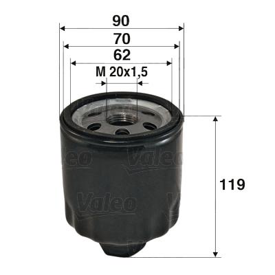 Öljynsuodatin VALEO 586020