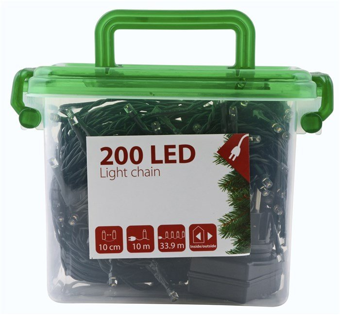 DAY - Light Chain With 200 LED & Timer 24,95 Meter (70037)