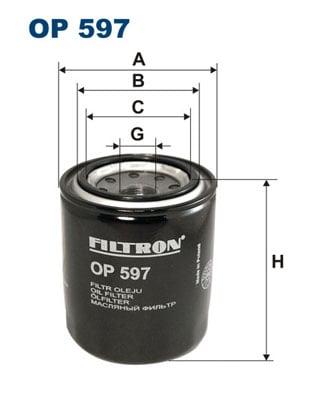 Öljynsuodatin FILTRON OP 597
