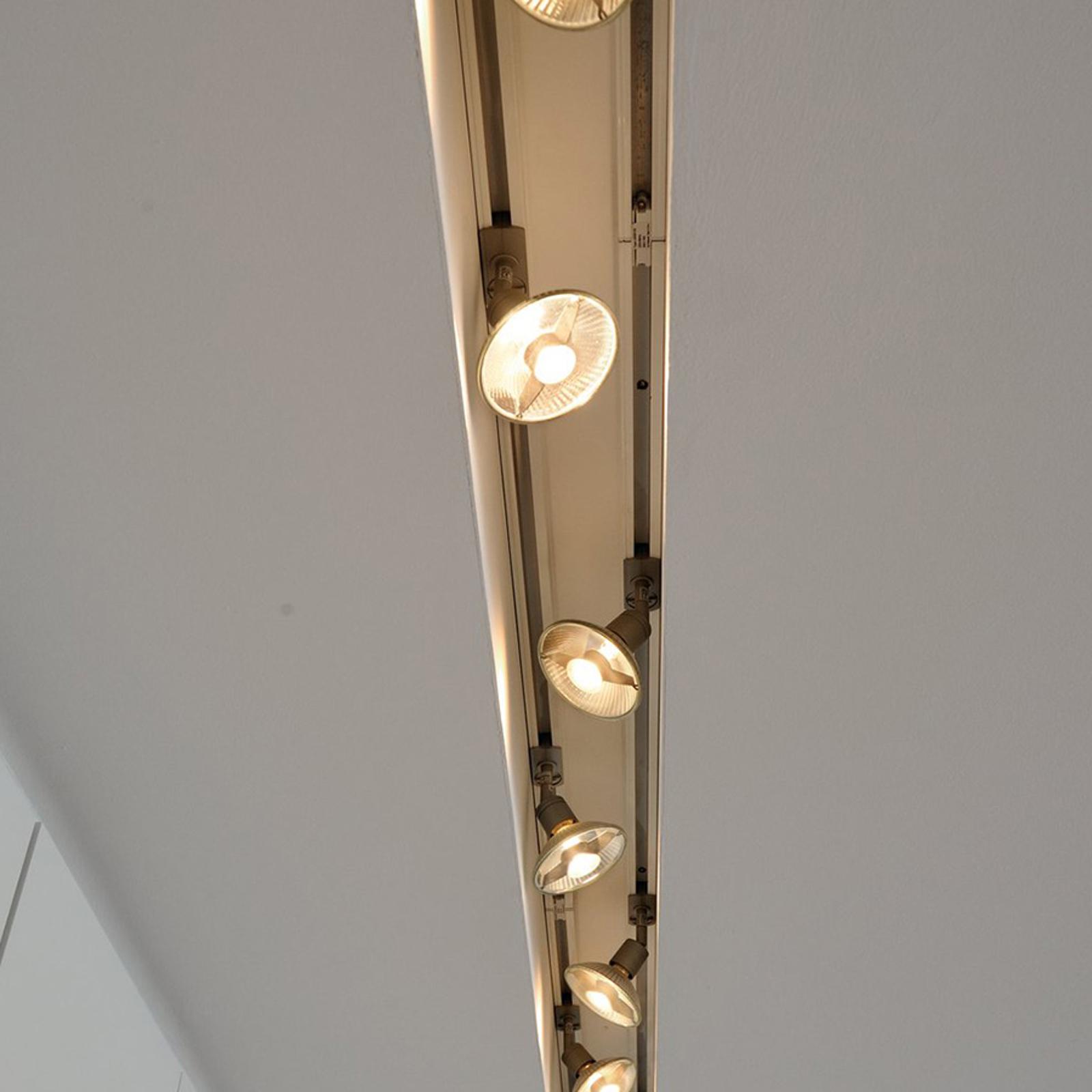 Puri 1-vaihe-kiskojärjestelmää varten hopeanharmaa