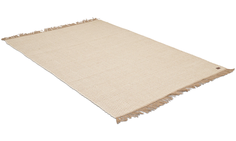 Boden hvit - håndvevd ullteppe