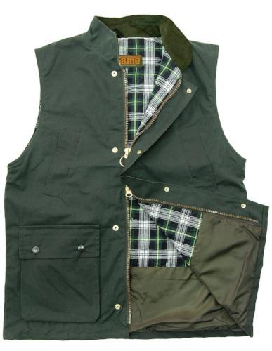 Game Technical Apparel Men's Jacket Various Colours Wax Gilet - Olive L