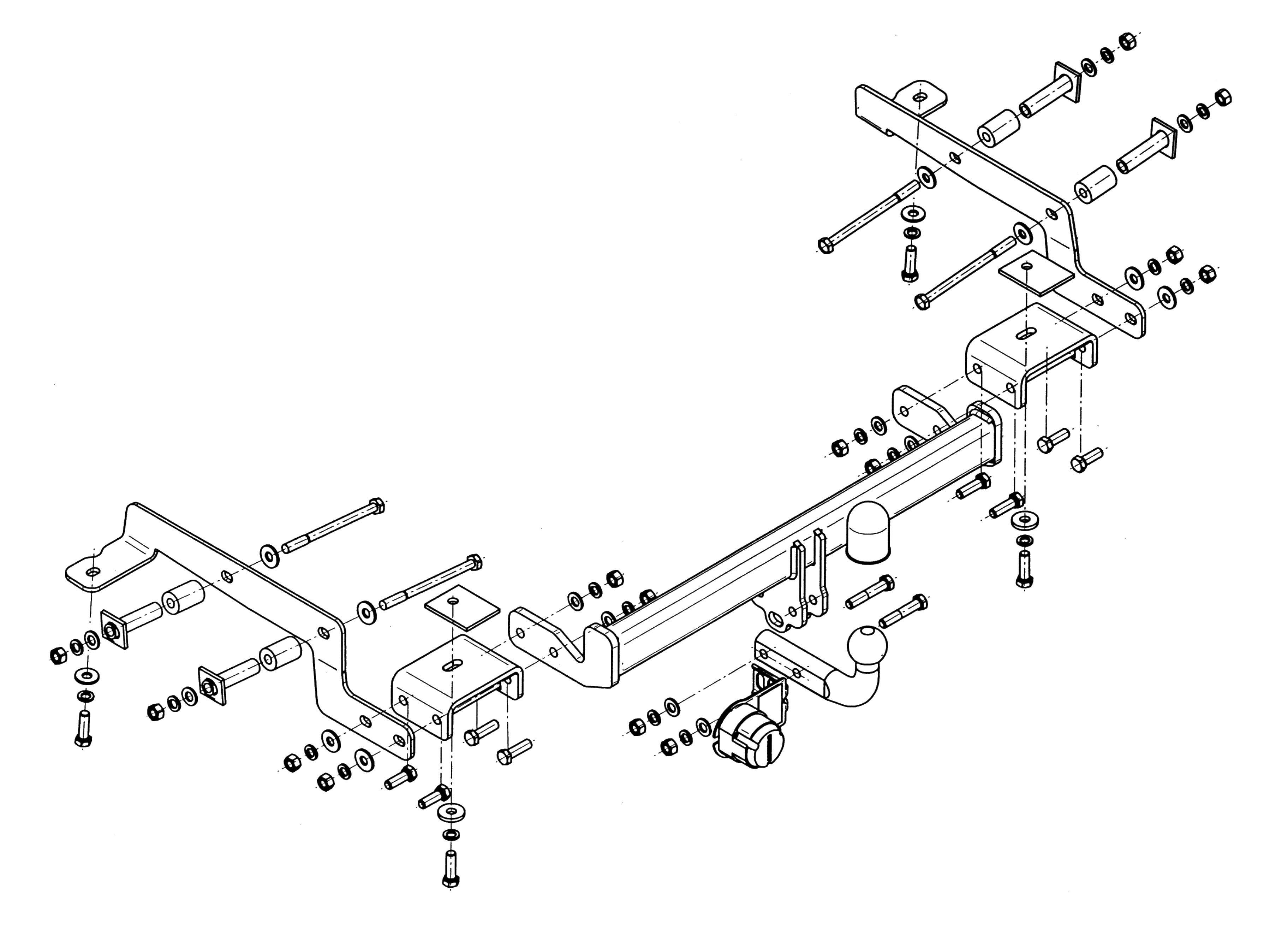 Vetokoukku STEINHOF STN-082 Nissan NV 200 '10-