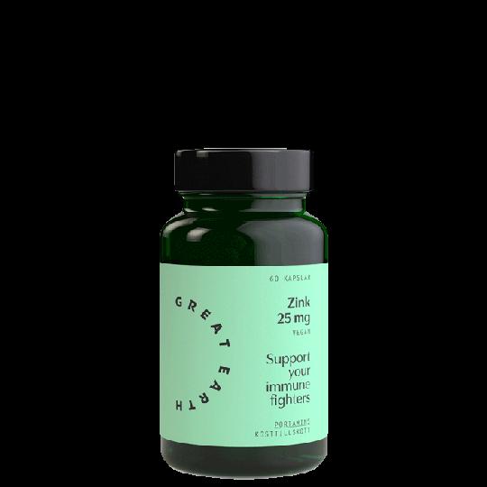 Zink 25 mg, 60 kapslar