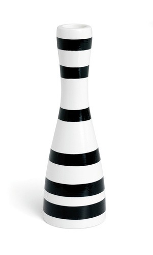 Kähler - Omaggio Candleholder Medium - Black (690782)