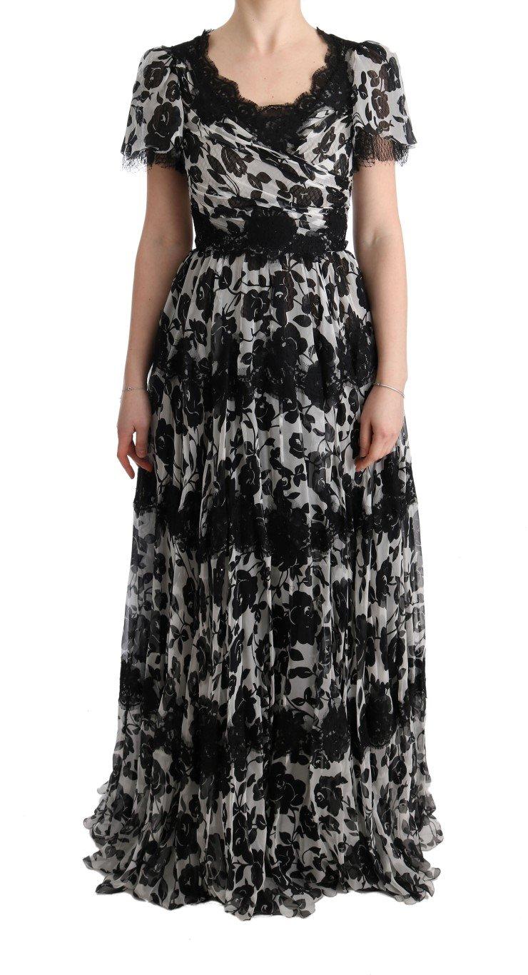 Dolce & Gabbana Women's Floral Lace Shift Dress Multicolor SIG60598 - IT36   XS