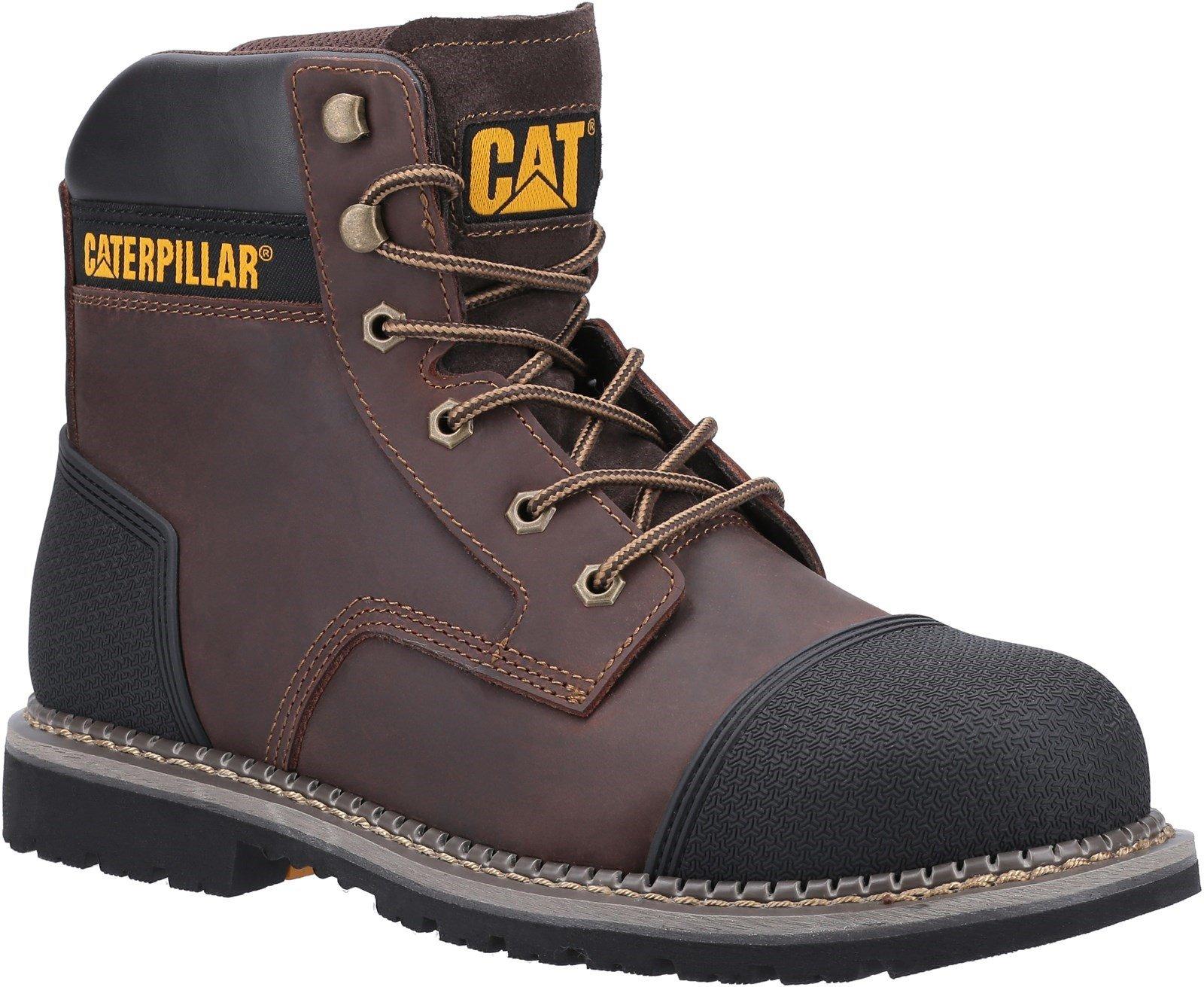 Caterpillar Unisex Powerplant S3 Safety Boot Brown 31903 - Brown 6