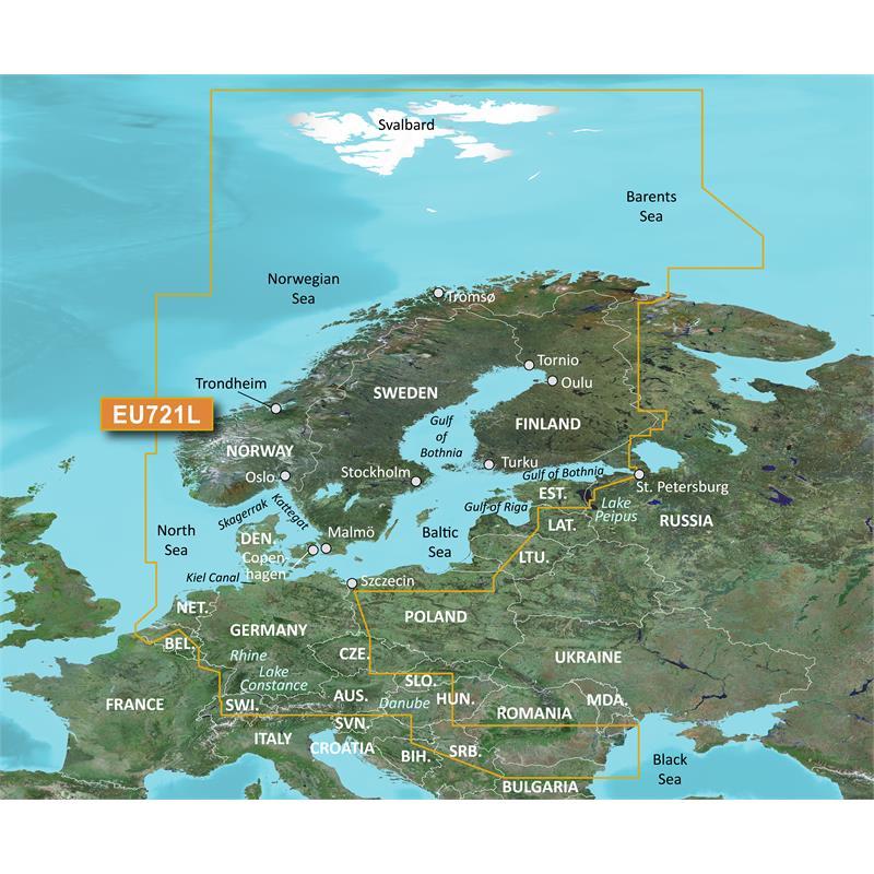 Garmin BlueChart® G3 Vision VEU721L-Northern Europe