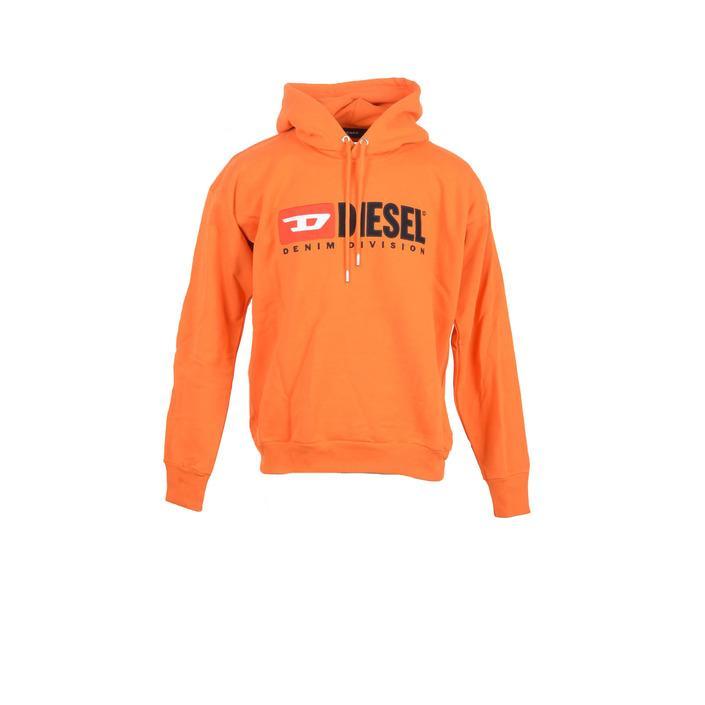 Diesel Men's Sweatshirt Orange 213449 - orange M