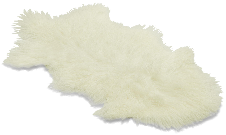 Shansi saueskinn - hvit snowtop