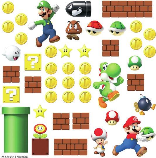 RoomMates Wallsticker Nintendo Super Mario