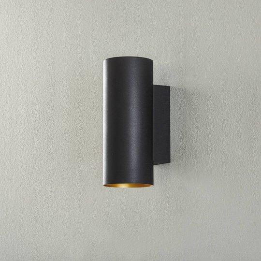 BEGA Studio Line vegglampe rund svart/gull 25 cm