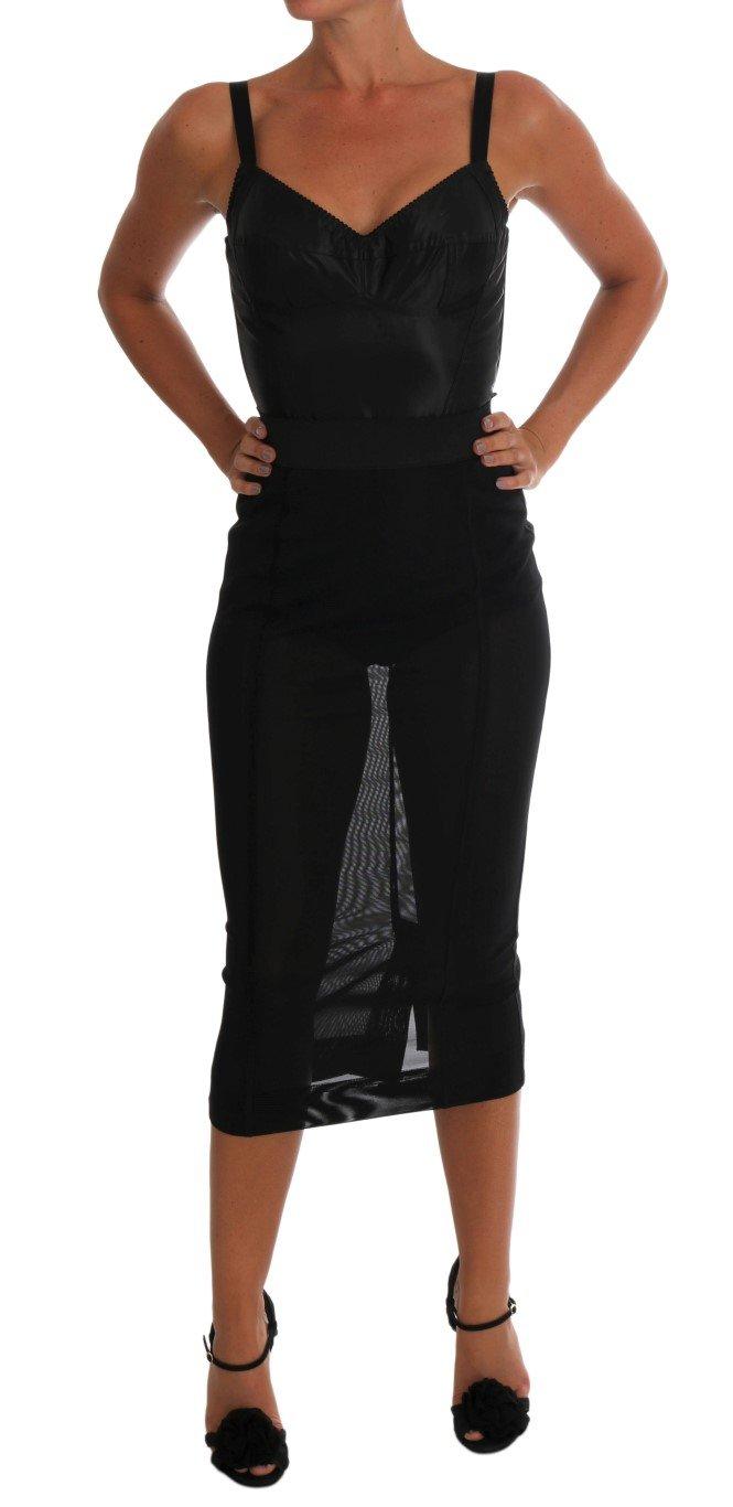 Dolce & Gabbana Women's Stretch Romper Bodysuit Black TSH1453 - IT38|XS