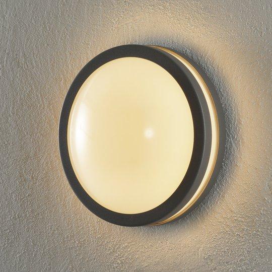 EGLO connect Locana-C -LED-ulkoseinävalaisin hopea