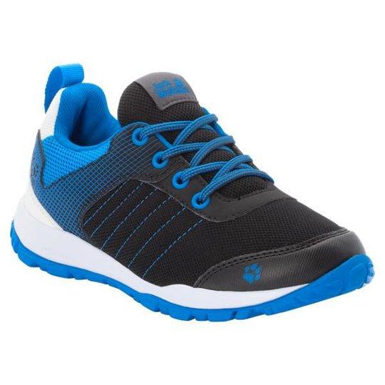 Jack Wolfskin Cascade Low Sneaker, Black/Blue, 28