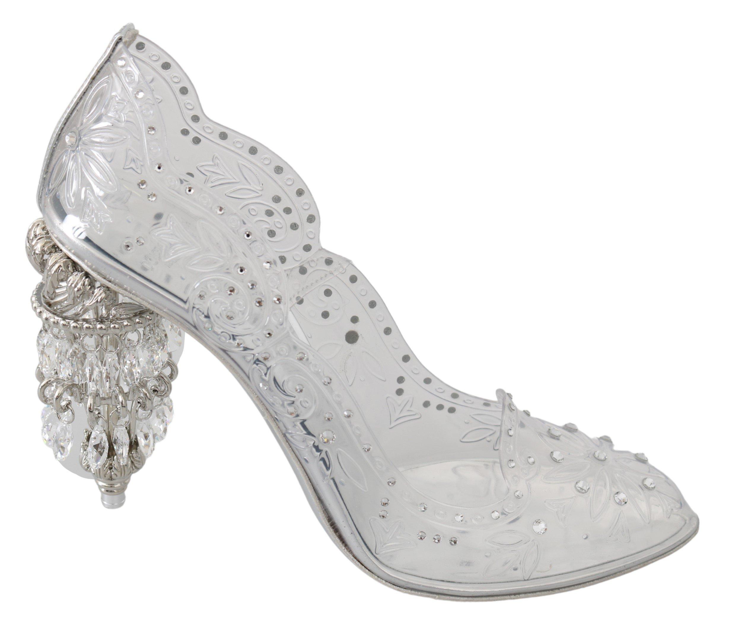 Dolce & Gabbana Women's Crystal CINDERELLA Pumps Transparent LA7523 - EU38/US7.5