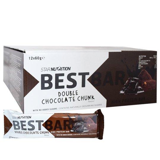 "Hel Låda Proteinbars ""Double Chocolate Chunk"" 12 x 60g - 59% rabatt"
