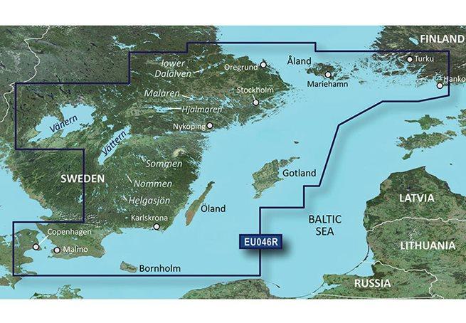 Garmin Sverige, Sydöst Garmin VEU046R - BlueChart g3 Vision mSD/SD