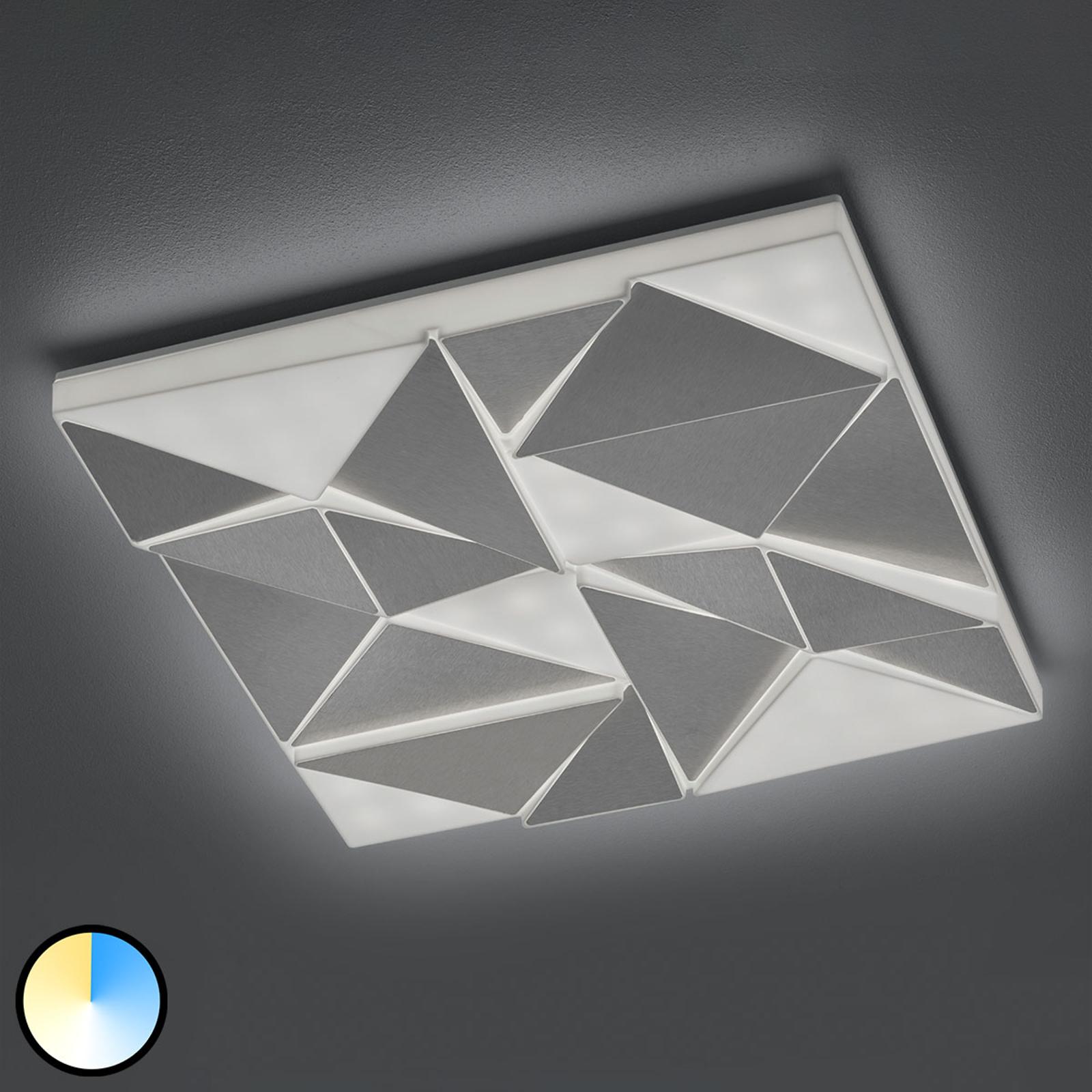 LED-kattovalaisin Trinity yövalolla, 60x60 cm