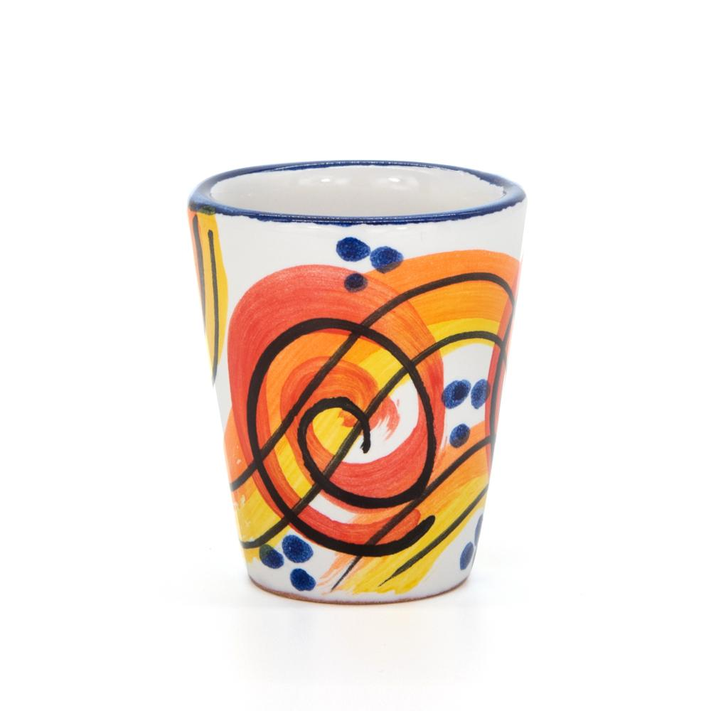 Limoncello Cups with Spirals by Sol'Art