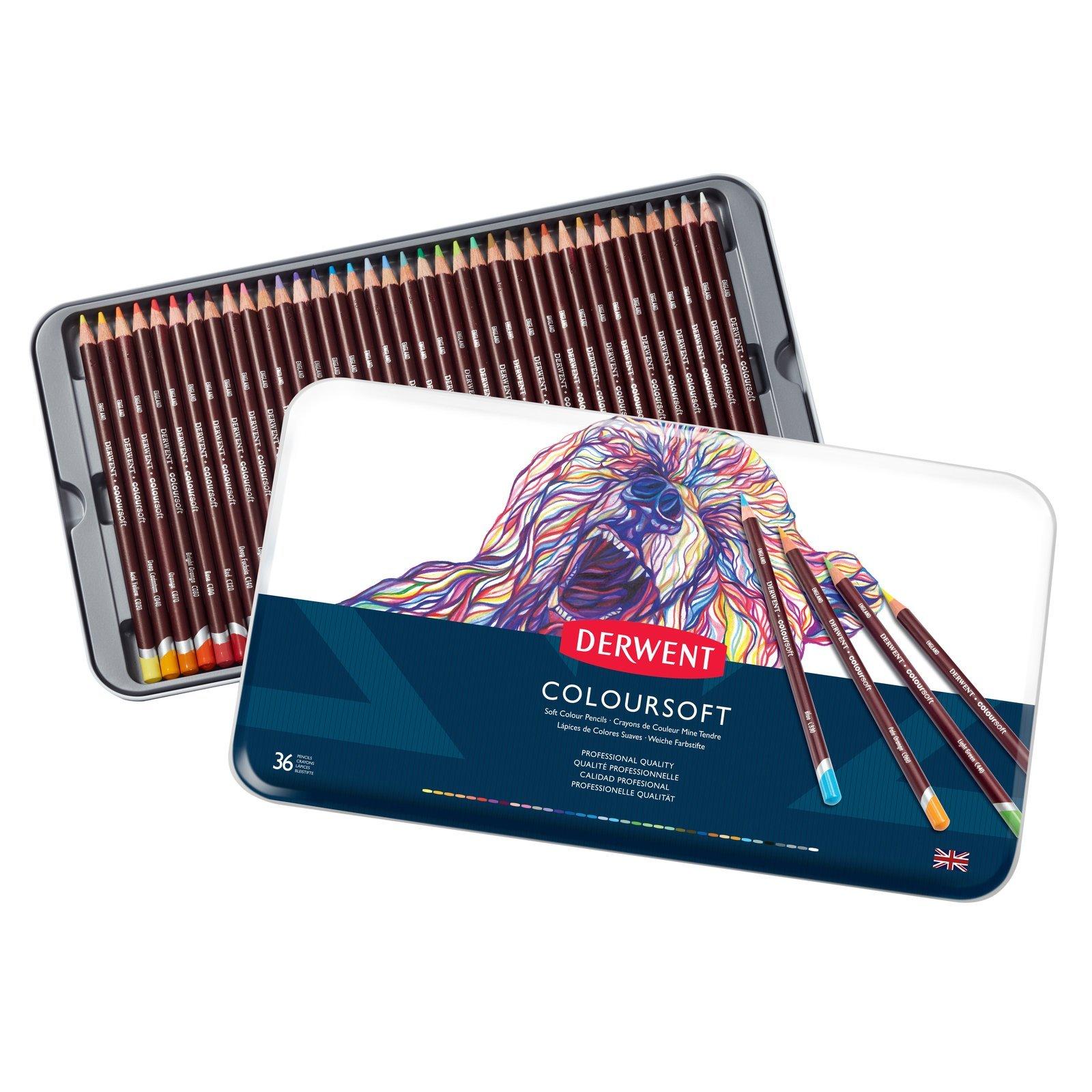 Derwent - Coloursoft Pencils, 36 Tin