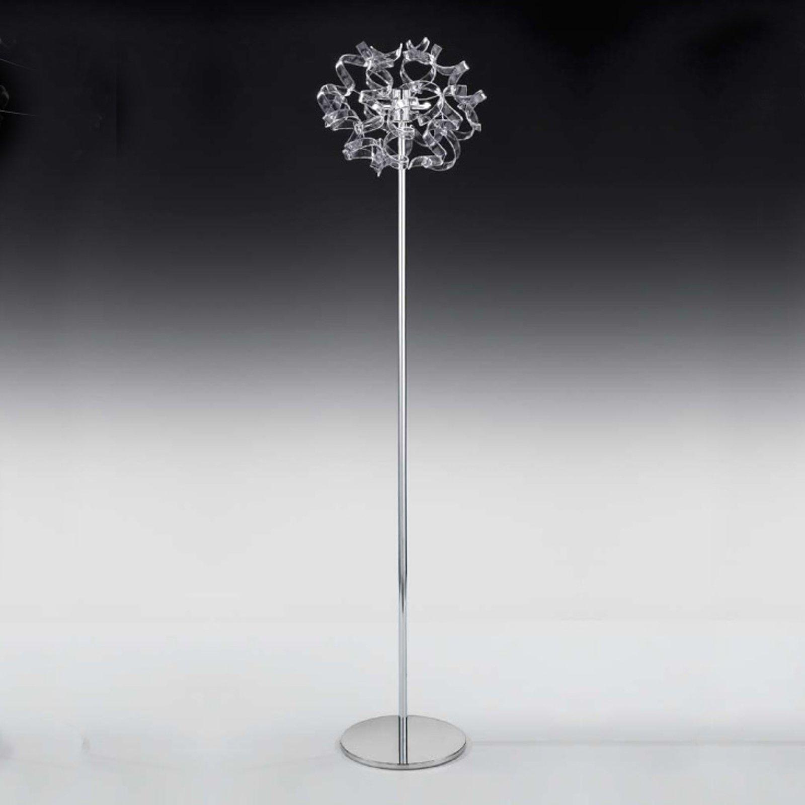 Gulvlampe Crystal med pyntet spiss