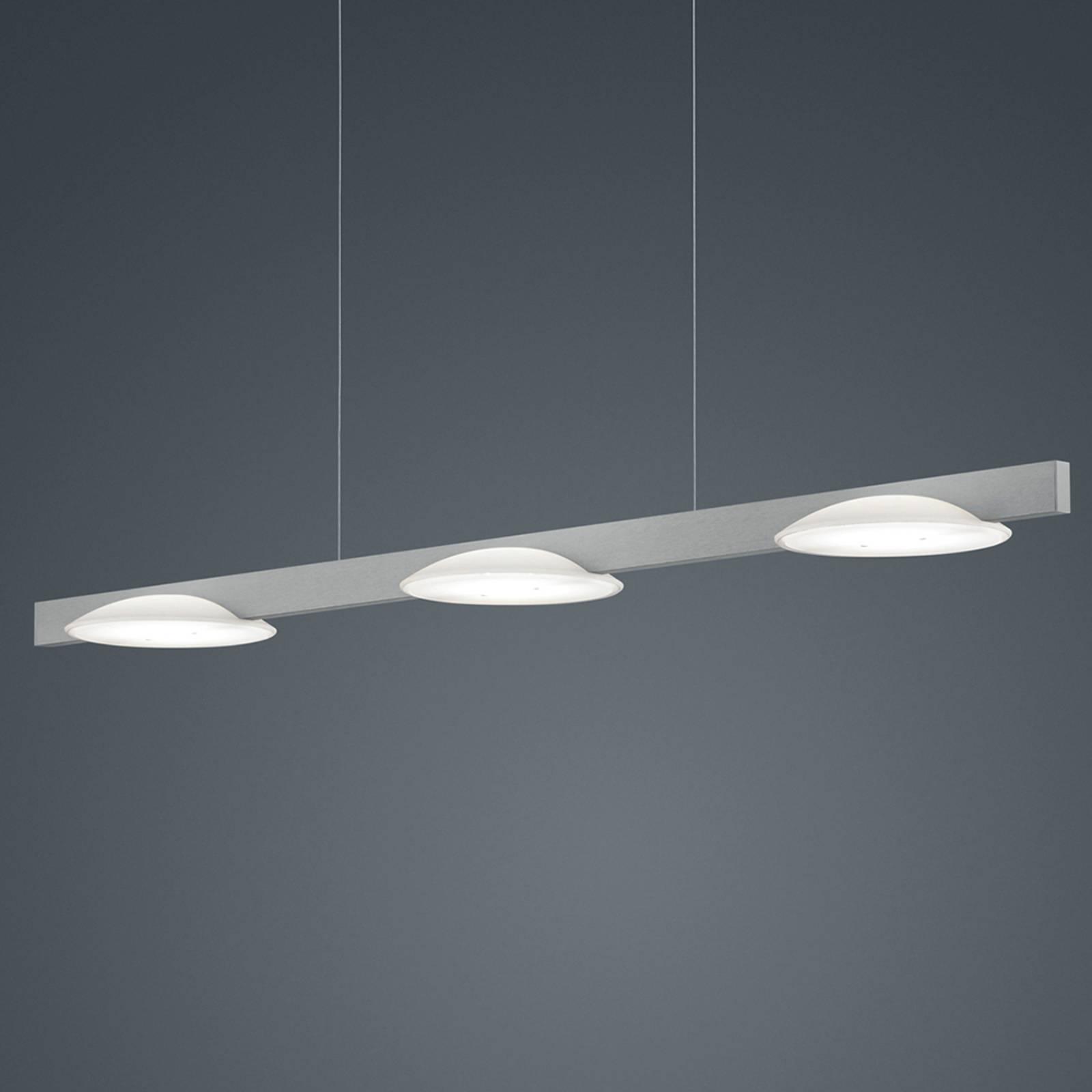 Helestra Pole -LED-riippuvalaisin 3-lamp. nikkeli