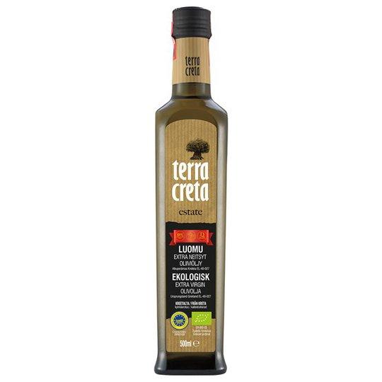 Terra Creta Ekologisk Extra Virgin Olivolja Estate, 500 ml