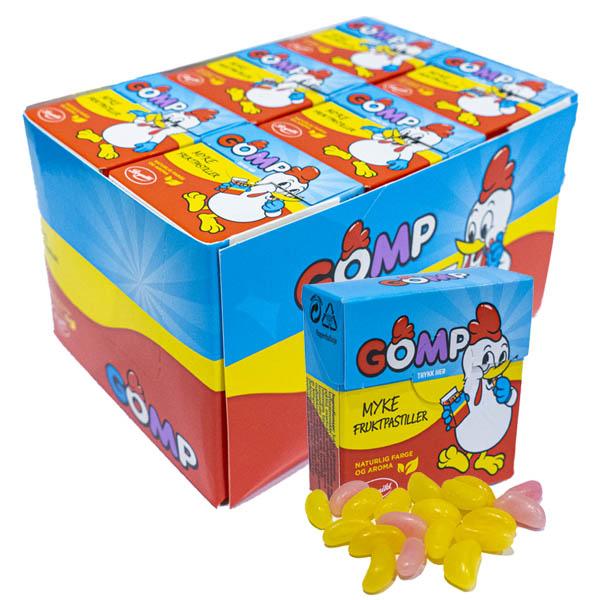 Gomp Fruktpastiller 25g 30-pack