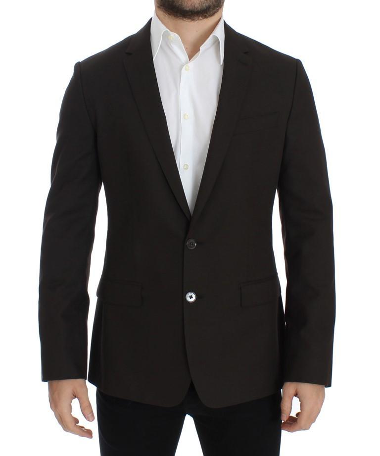 Dolce & Gabbana Men's Wool MARTINI slim fit Blazer Brown SIG12230 - IT48 | M