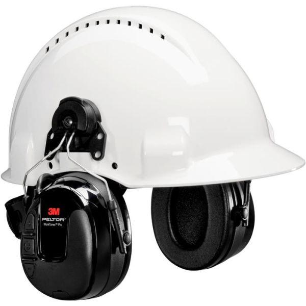3M Peltor WorkTunes Pro Hørselsvern med hjelmfeste