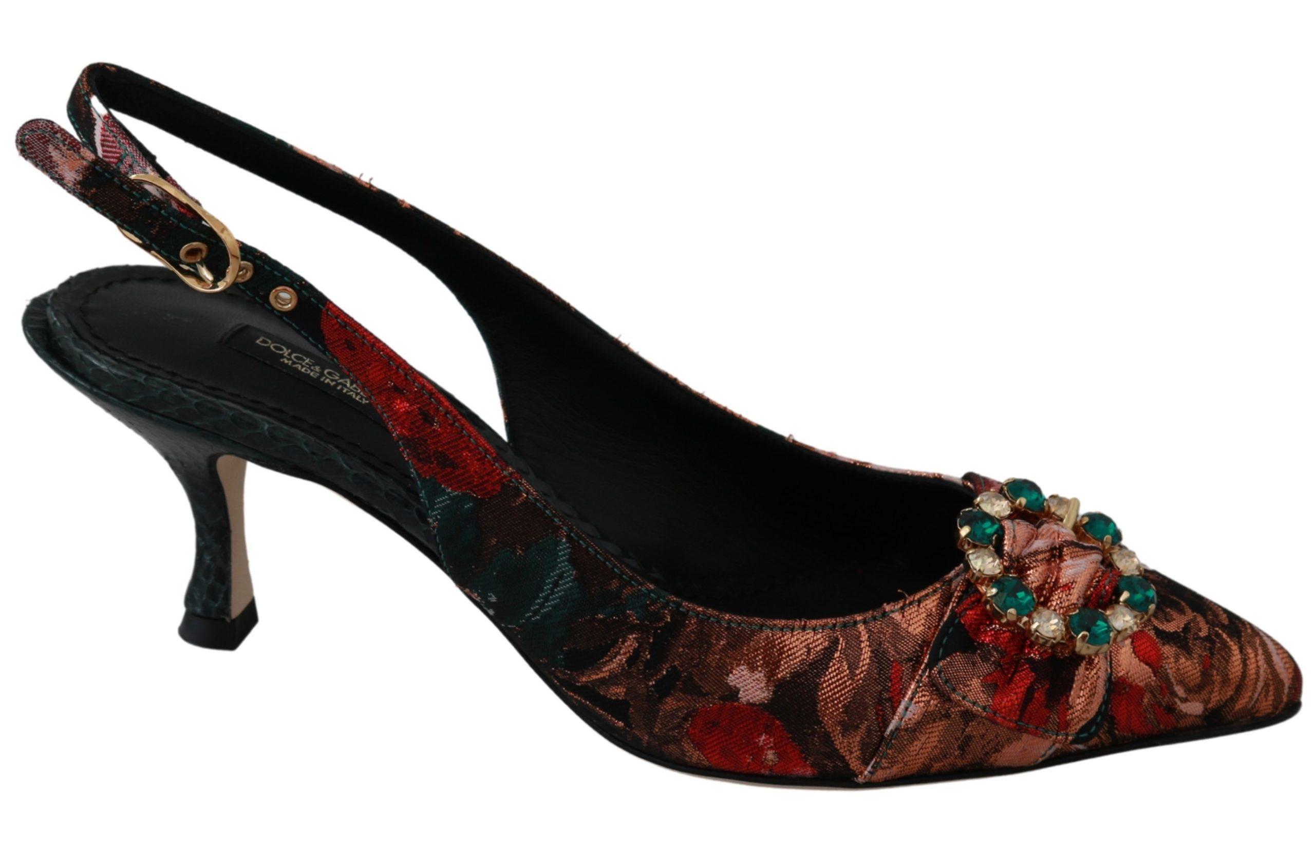 Dolce & Gabbana Women's Crystal Heels Shoes Multicolor LA6419 - EU36/US5.5