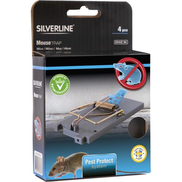 Silverline Brave Hiirenloukku 4 kpl