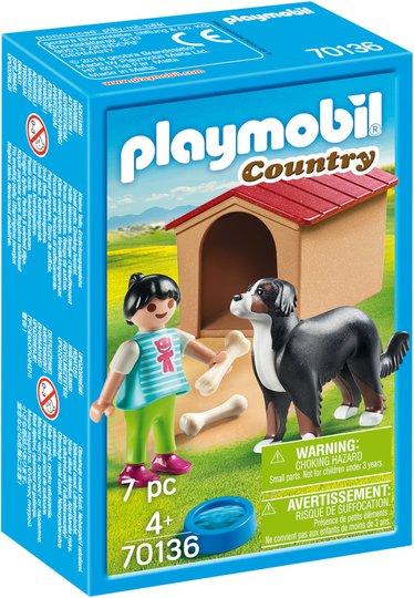 Playmobil 70136 Hund Med Hundebur