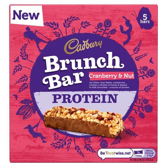 Cadbury Brunch Bar Cranberry & Nut Protein 5-pack