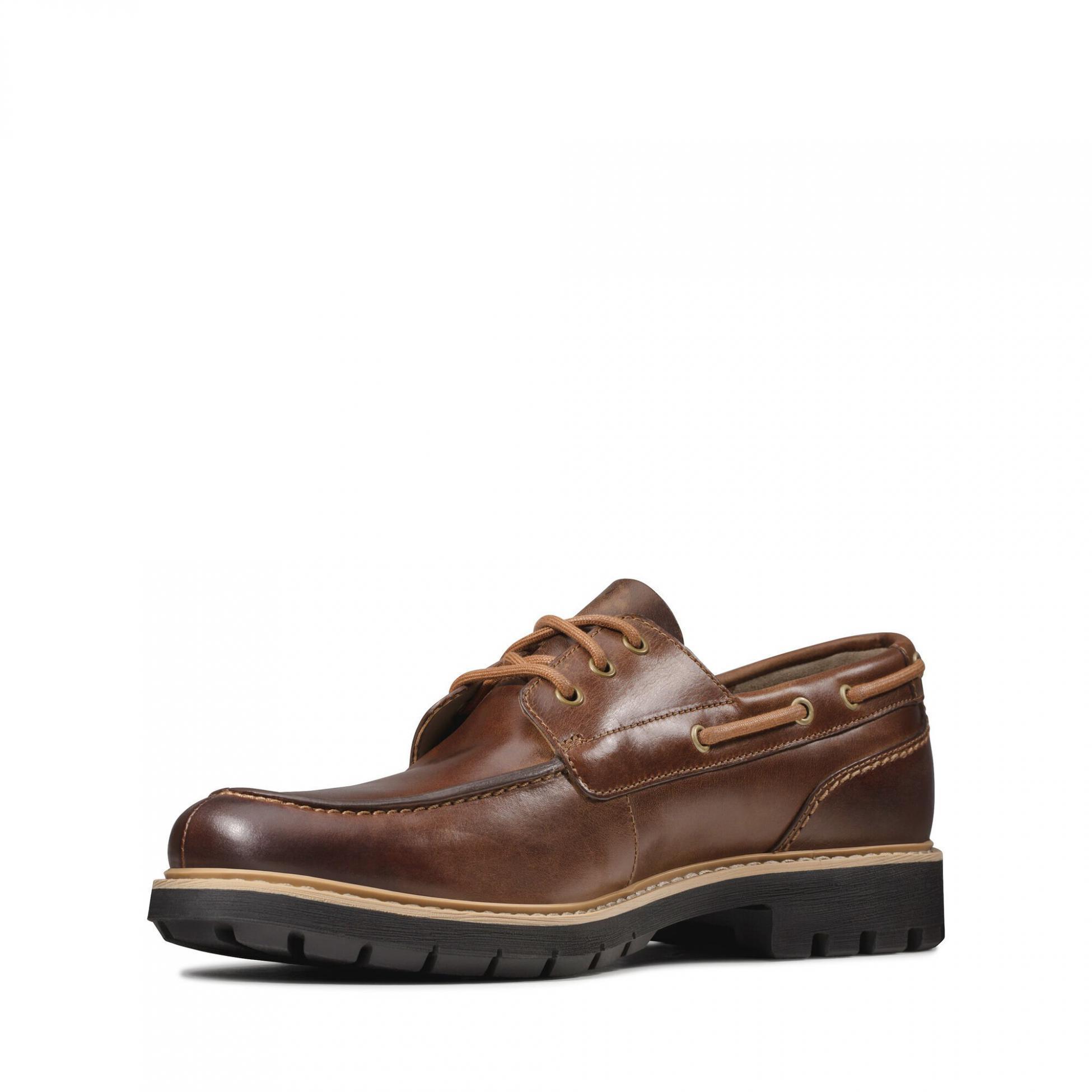 Clarks Men's Batcombe Sail Shoes Various Colours 5050410169427 - 8 UK Dark Tan