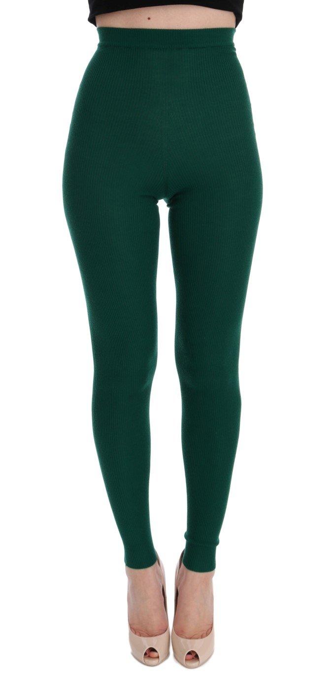 Dolce & Gabbana Women's Tights Green SIG32082 - IT42 M
