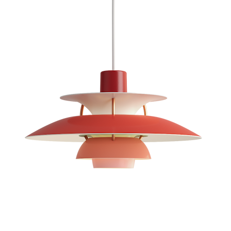 PH 5 Mini Taklampe - Rød