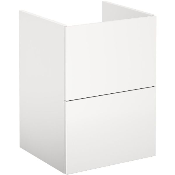 Gustavsberg Graphic Base Kommode hvit, med skuffer 45 cm
