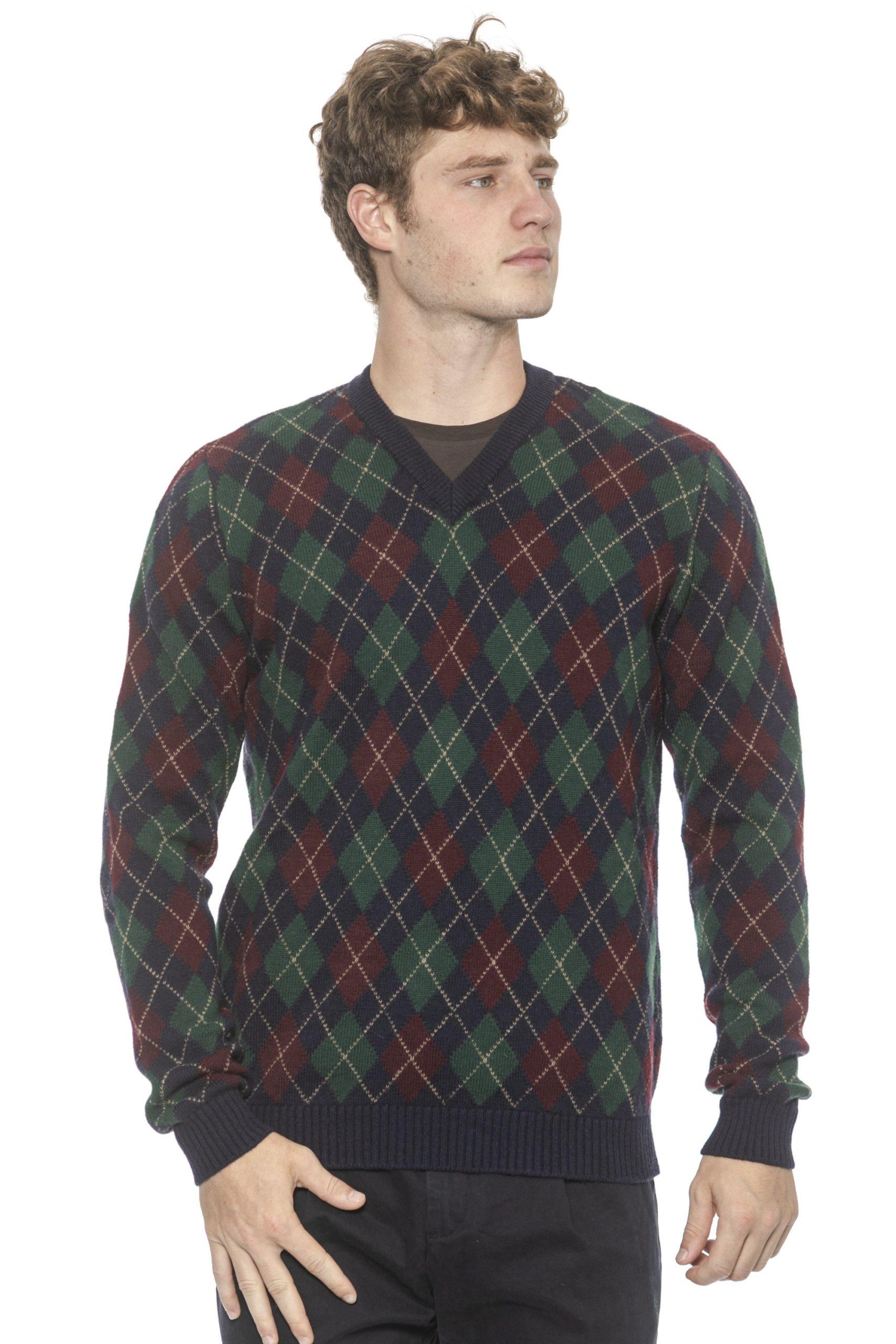 Alpha Studio Men's Nottebordea Sweater Blue AL1314549 - IT48   M
